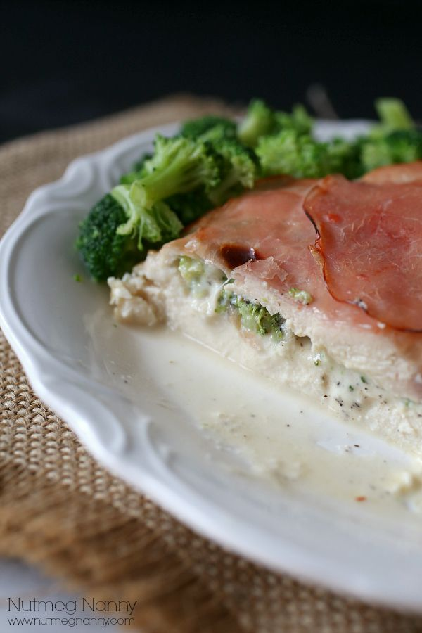 Broccoli and Cheese Stuffed Chicken Breast by Nutmeg Nanny