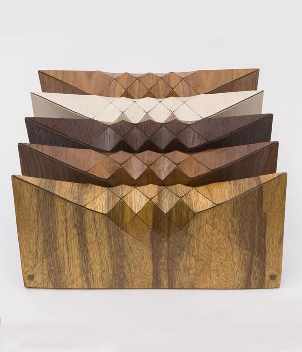Wooden clutches by Tesler-Mendelovitch