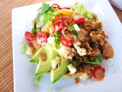 Raw Tostadas demonstrate that even without the stovetop, Mexican food can be hot, hot, hot!