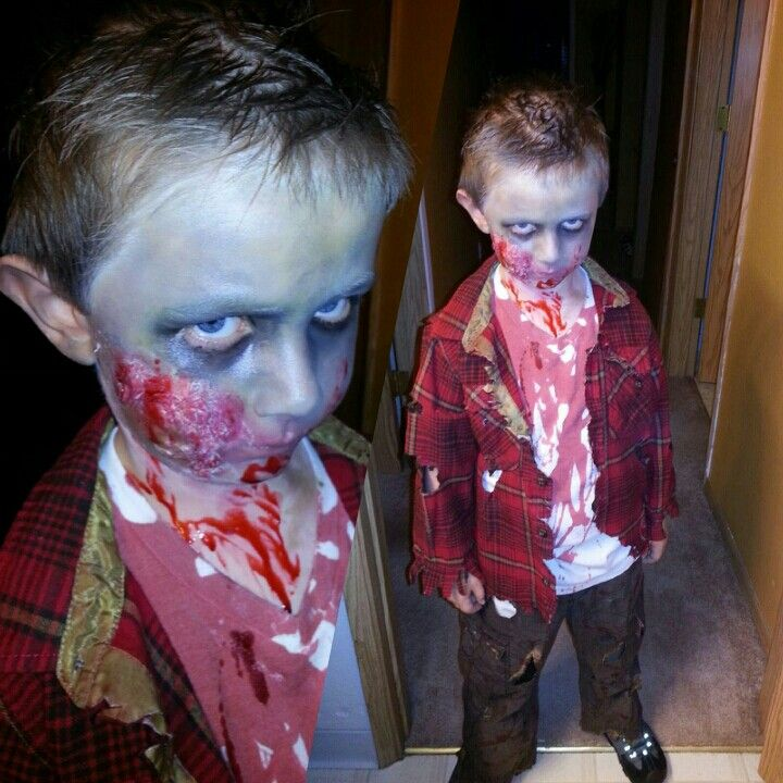zombie makeupkids zombie costume i did on my son