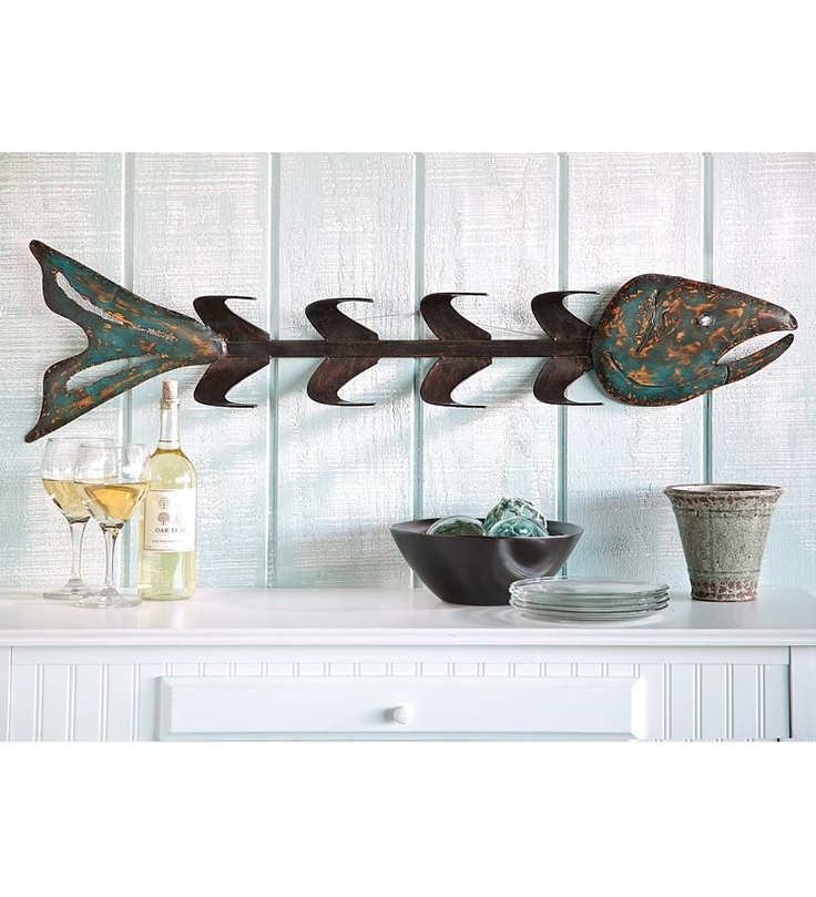 metal fish bones wine rack wall art fish pinterest