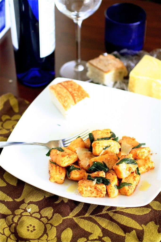 Sweet Potato Gnocchi with Brown Butter and Sage. I've never made ...