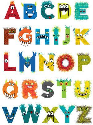 Monster Alphabet Monsters Pinterest