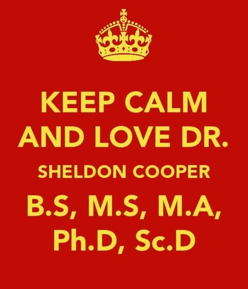 Dr Sheldon Cooper :)