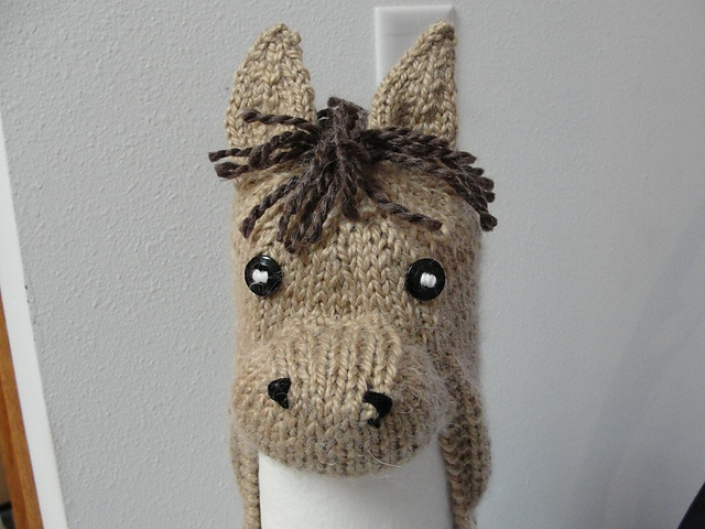 Free Crochet Pattern For Horse Hat : Horse head hat pattern knitting Pinterest