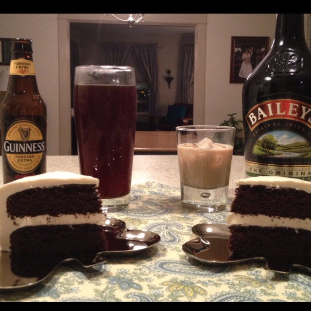 Dark Chocolate Guinness Cake With Bailey's Buttercream ...