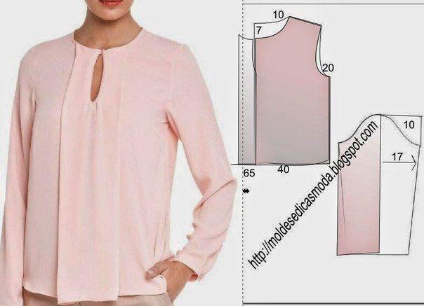 Сшить блузку из легкого 550