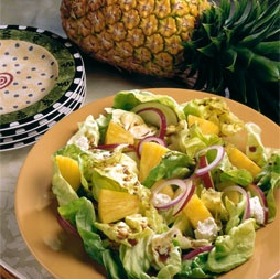 Pineapple, Apple and Feta Cheese Salad | Healthy: Salads | Pinterest