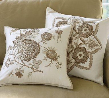 Cora Kalamkari Embroidered Pillow Covers - Neutral #potterybarn