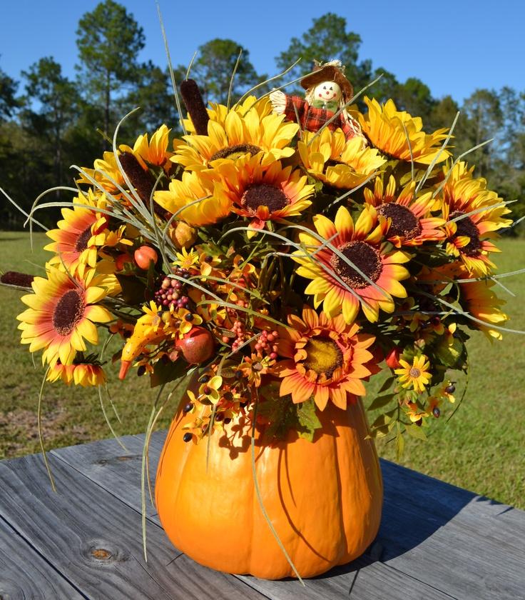 Fall Pumpkin Arrangement Fall Favorites Pinterest