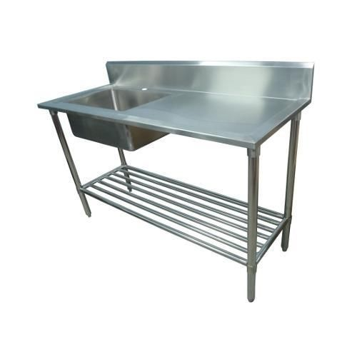 600mm Kitchen Sink : 1500 x 600mm NEW COMMERCIAL SINGLE BOWL KITCHEN SINK #304 STAINLESS S ...