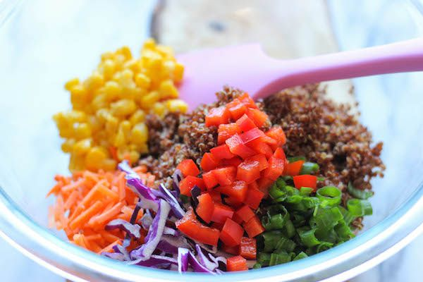 Asian Quinoa Salad - A quick and easy healthy quinoa salad dressed in ...