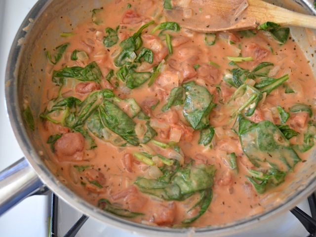 Creamy Tomato & Spinach Pasta - Budget Bytes