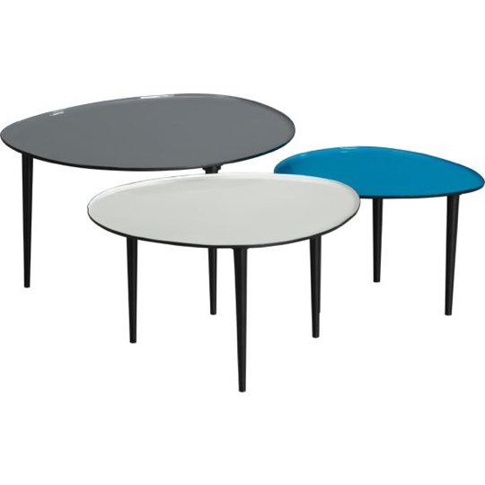 Group Or Separate Luv The Options Lucent Nesting Tables Set Cb2 Living Room