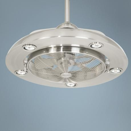 Possini Segue Brushed Nickel Finish 5 Light Ceiling Fan