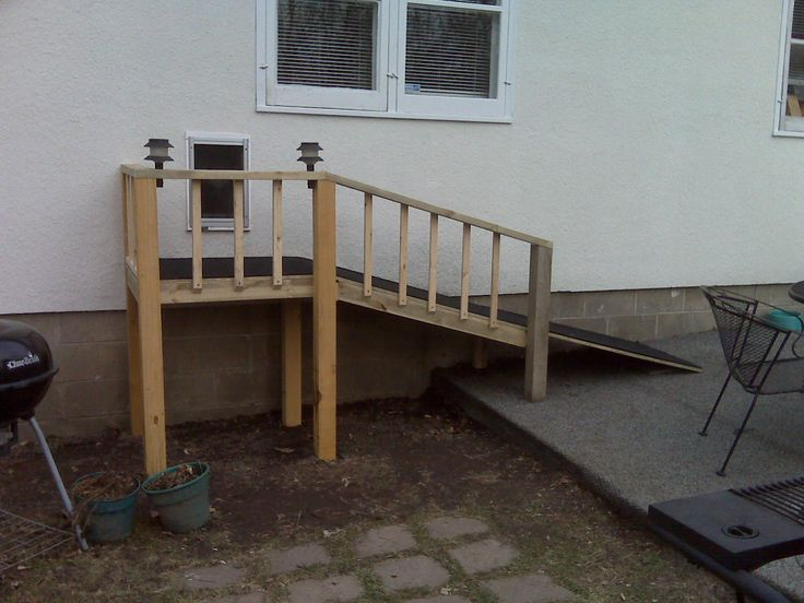 how to build a dog ramp for a deck