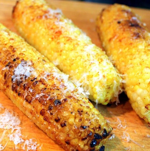 Parmesan Cheese Corn on the Cob | Grilled Veggies & Fruit | Pinterest
