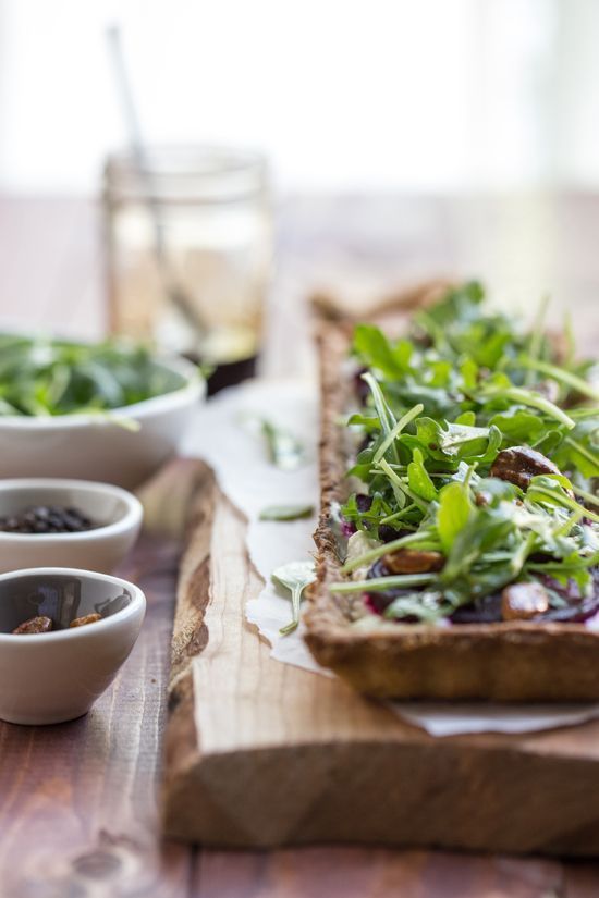 roasted beet and goat cheese tart. | Cook it{Appetizers} | Pinterest