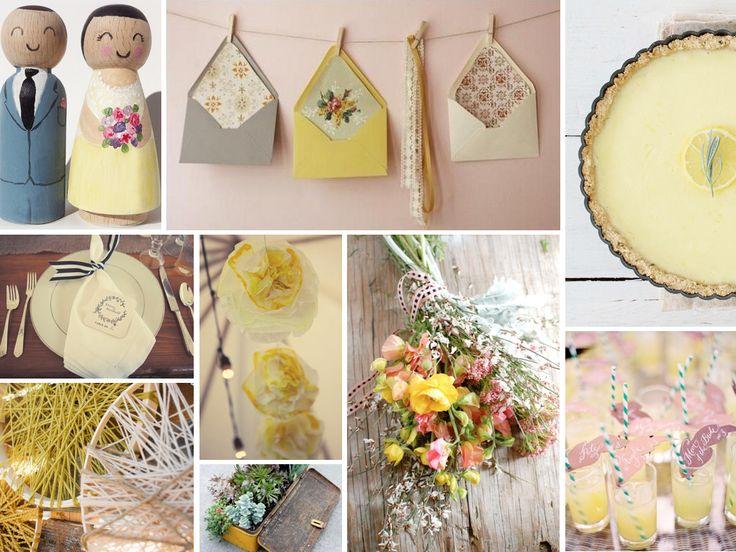 Handmade Wedding Gift Ideas For Bride : handmade, homemade} rustic, vintage handmade wedding in yellow