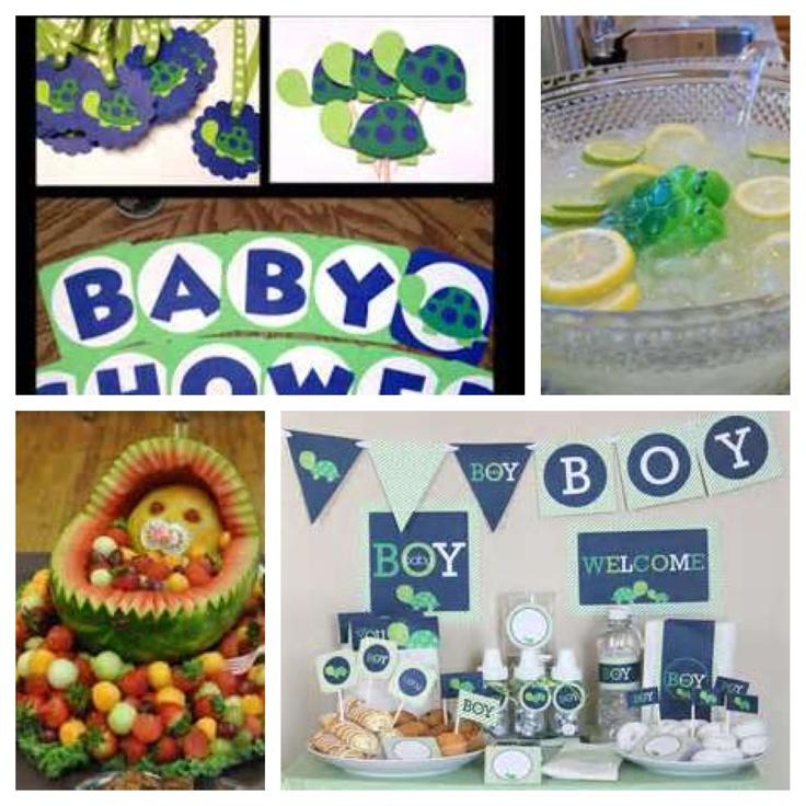 turtle baby shower theme baby shower boy pinterest