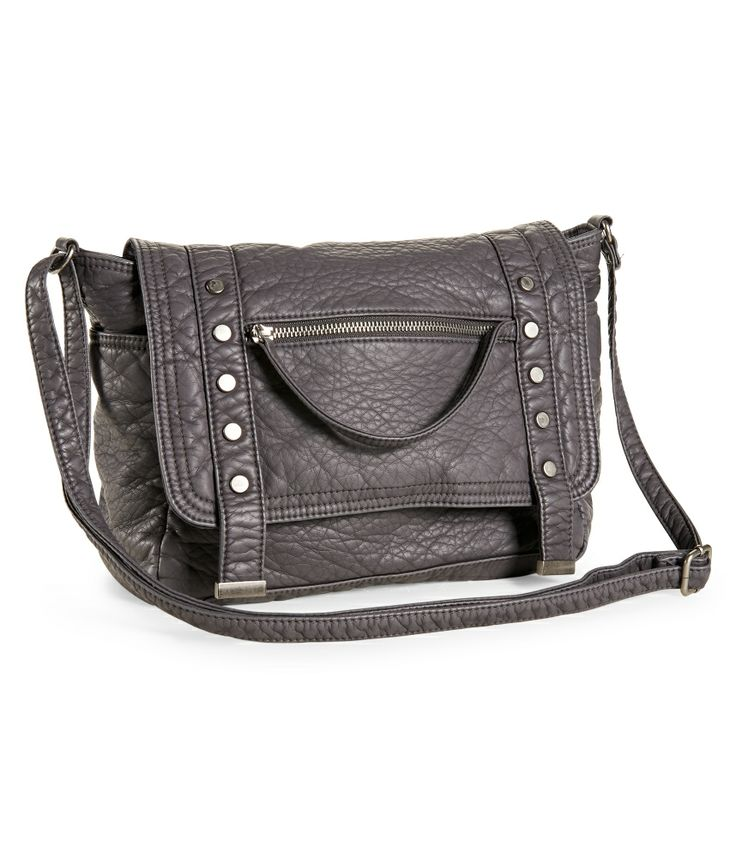 Faux Leather Messenger Bag - Aeropostale
