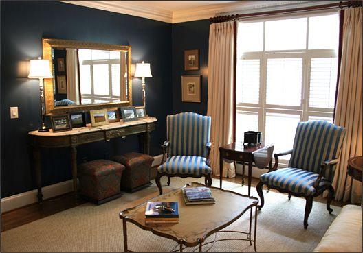navy blue living room midnight blue pinterest