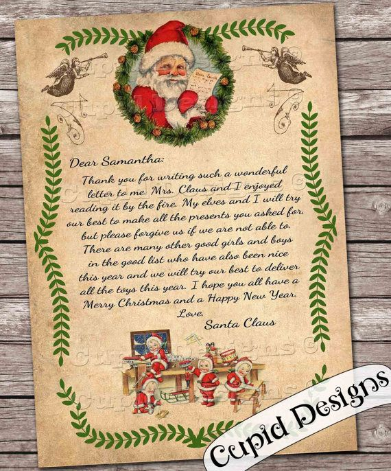Santa Letter Personalized Letter From Santa Claus