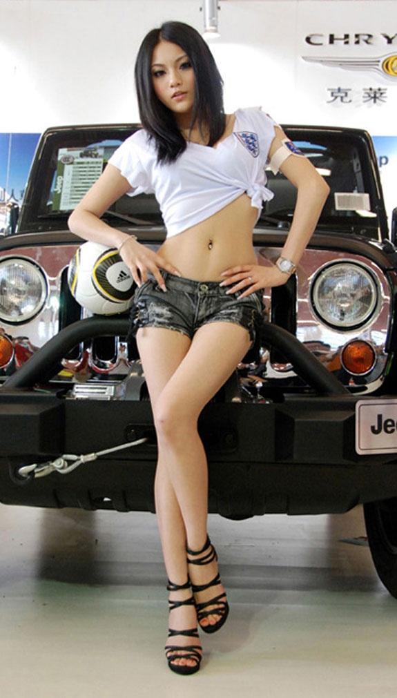 Asian car hot model show