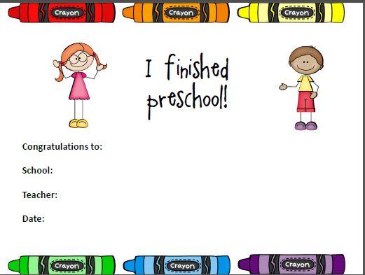 Editable Preschool Completion Certificate Completion Of Kindergarten
