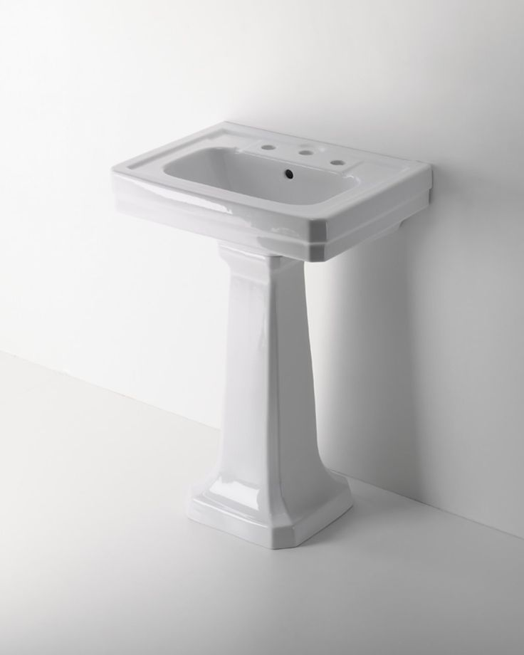 36 Pedestal Sink : Exeter Fine Fire Clay Pedestal 28