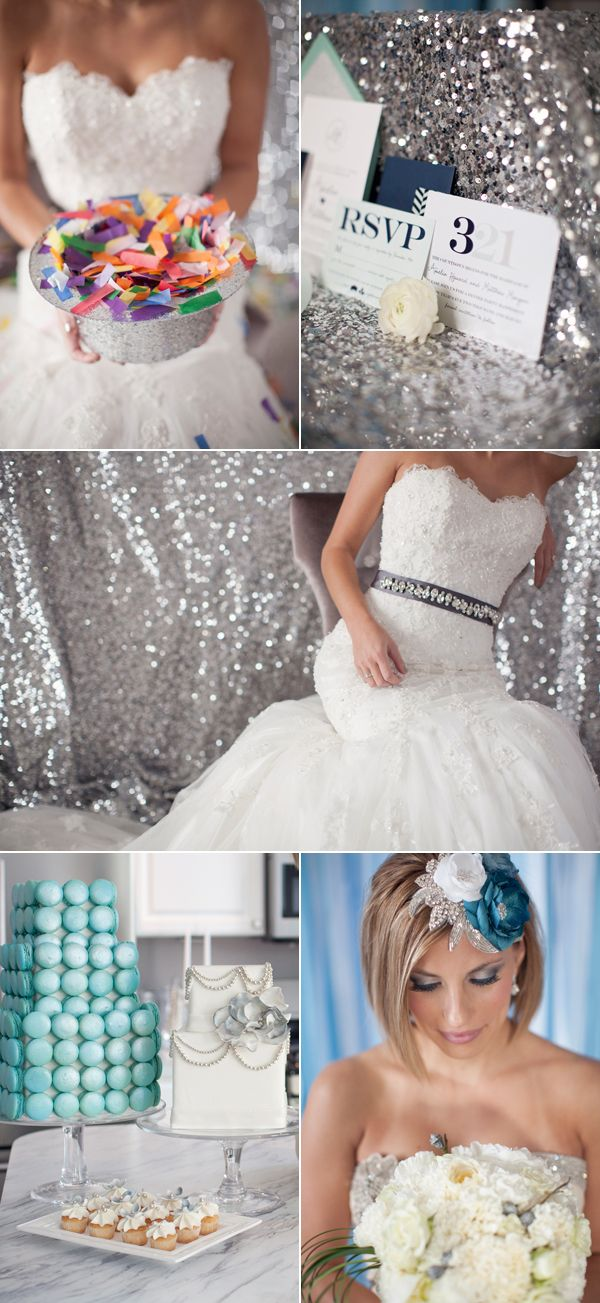 Awesome sparkly, glittery wedding.