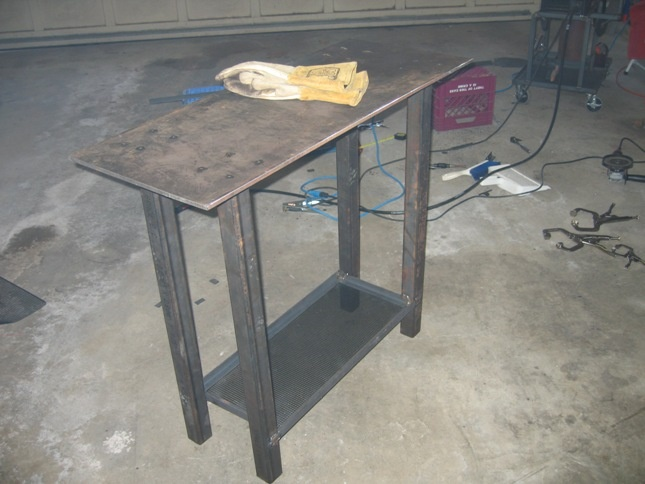 Welding table plans pictures to pin on pinterest pinsdaddy - Plan fabrication table ...