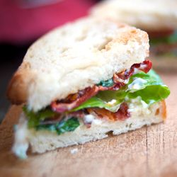 BLT is the perfect sandwich. This version, with slow-roasted tomatoes ...
