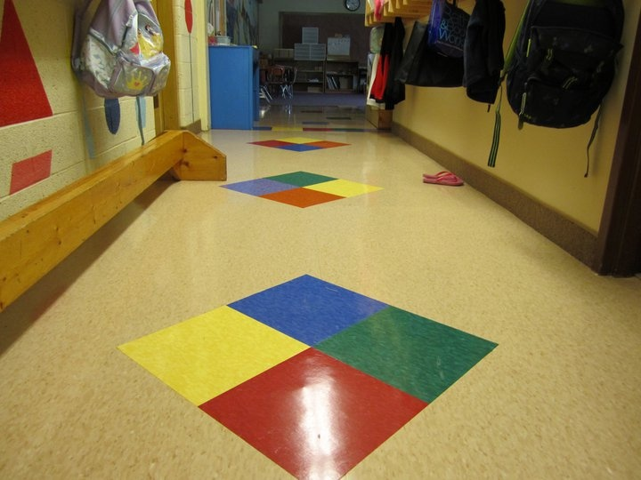 Commercial VCT Vinyl Composite Tile In A Daycare