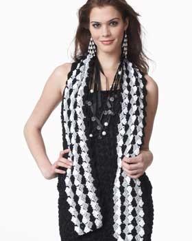 Crochet Scarf Pattern Vertical Stripes : Pin by CROCHET CURATOR on Scarves - Free Crochet Patterns ...