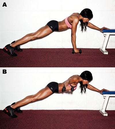 Plank T Raise. For strong shoulders and an awesome core!!