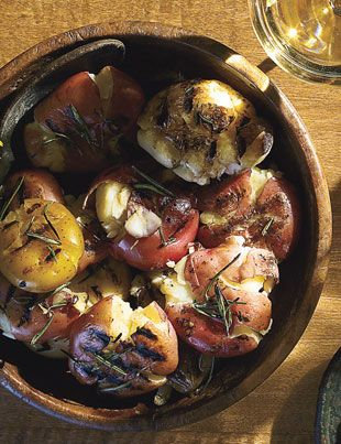 Grilled Smashed Potatoes In this recipe, the potatoes are boiled ...