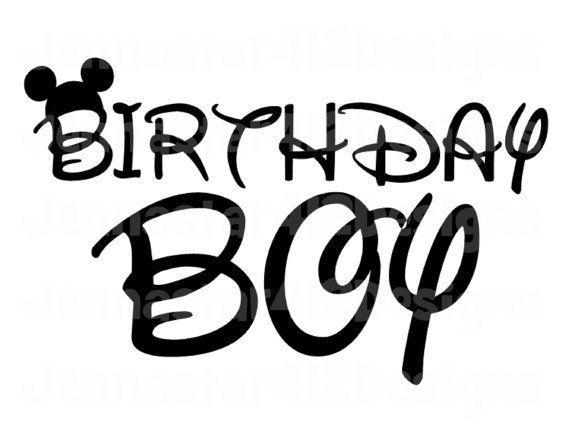 Disney Mickey Birthday Boy Diy Printable By