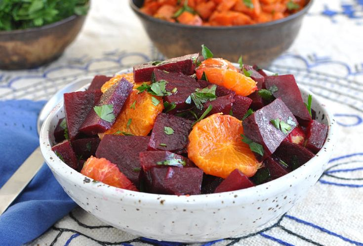 Moroccan Beet Salad with Tangerines and Cinnamon. Eaten Moroccan beats ...