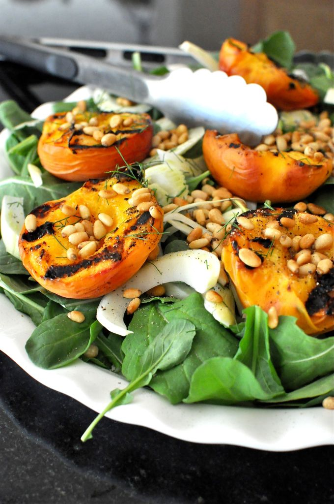 Grilled Peach & Fennel Salad is amazing topped with Granola Trail Mix ...