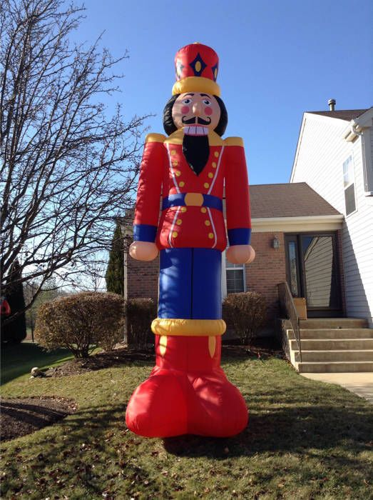 huge 15 39 airblown inflatable nutcracker christmas yard