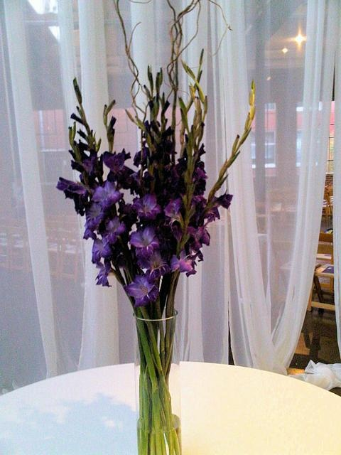 Centerpiece Featuring Gladiolus Wedding Ideas Pinterest