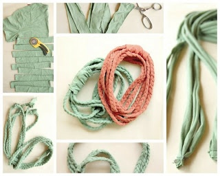No sew T-shirt scarf necklaces | Awesome DIY | Pinterest