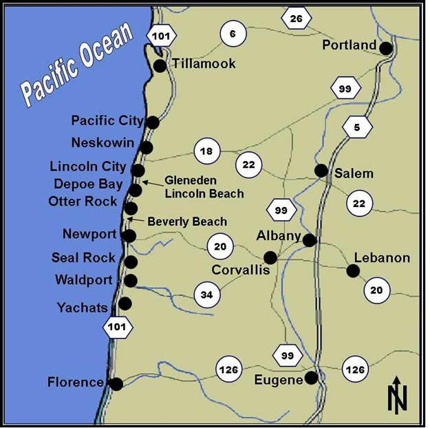 Oregon Coast Area Map Oregon Pinterest