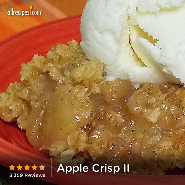 "Apple Crisp | ""Cinnamon-spiced apples are baked with a sweet oat ..."