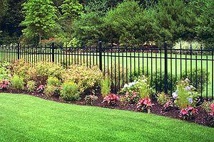 Landscape Around Fence Garden Yard Pinterest 400 x 300