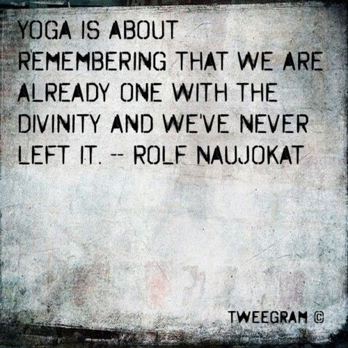 yoga is about...