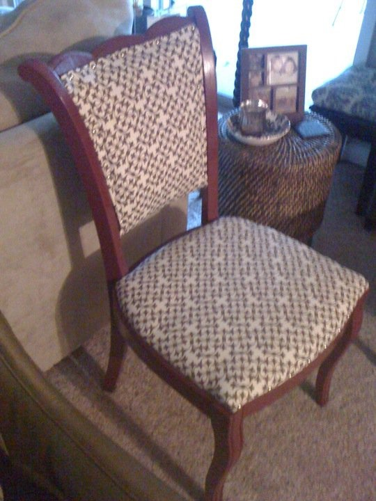 old ugly chair we re covered and painted | DeBerry's DIY... | Pintere ...