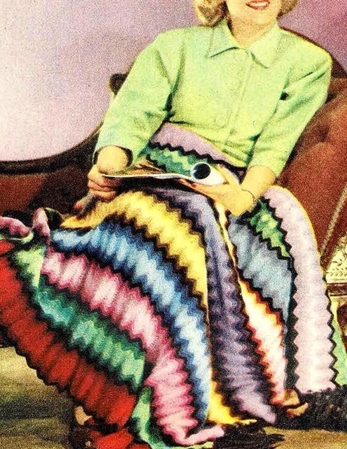 Easy Peasy 1950s design Crochet Afghan by VanessaLovesVintage, $1.99