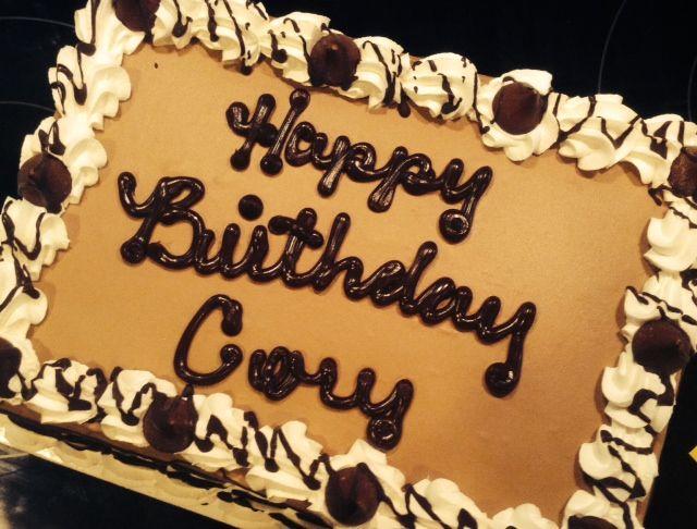 Happy Birthday Cory Cake